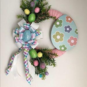 Easter wreath, spring wreath, front door wreath